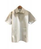 ()の古着「ハーフスリーブポロシャツ」 ホワイト