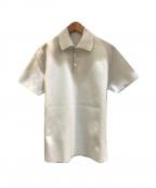 DESCENTE ALLTERRAIN(デザイント オルテライン)の古着「ハーフスリーブポロシャツ」|ホワイト