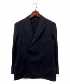 ()の古着「ダブルテーラードジャケット」 ネイビー
