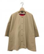 TOMORROW LAND(トゥモローランド)の古着「コットンビコロールマントコート」|キャメル