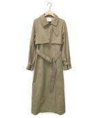 ()の古着「MINIMAL FLARE LONG TRENCH COAT」|ベージュ