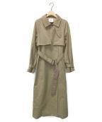 Ameri(アメリ)の古着「MINIMAL FLARE LONG TRENCH COAT」|ベージュ