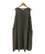 ()の古着「cotton georgette sleevessワンピース」 グレー