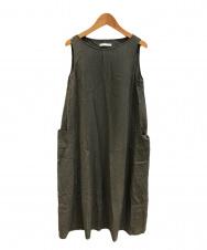 VIE (ブイ―) cotton georgette sleevessワンピース グレー サイズ:表記なし