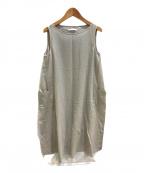 VIE(ブイ―)の古着「cotton georgette sleevessワンピース」 グレー