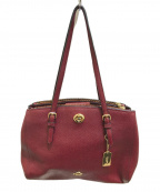 COACH(コーチ)の古着「Turnlock Carryall 29 oxblood」|ワインレッド