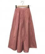 TOMORROW LAND()の古着「マイクロタフタボリュームマキシスカート」|ピンク