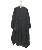()の古着「SOMELOS パフスリーブドレス」|ブラック