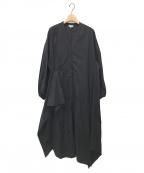 ENFOLD(エンフォルド)の古着「SOMELOS パフスリーブドレス」 ブラック