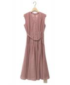 ()の古着「洗えるシアーシャツフレアワンピース」|ピンク