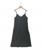 KUMIKYOKU(クミキョク)の古着「リネンライクベーシックキャミワンピース」|ブラック