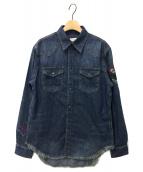 ()の古着「袖刺繍デニムシャツ」|インディゴ