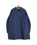 JIL SANDER(ジルサンダー)の古着「比翼コート」|ネイビー