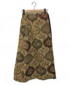 77circa(ナナナナサーカ)の古着「プリーツ切替ゴブランラップスカート」 キャメル
