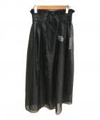 RAY BEAMS(レイ ビームス)の古着「オーガンジーラップスカート」 ブラック