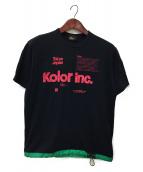 ()の古着「ドローコードTシャツ」|ネイビー