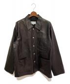 ()の古着「オーバーサイズレザージャケット」|ブラック