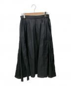 FRAMeWORK(フレームワーク)の古着「コットンシルク切り替えスカート」|ネイビー