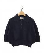martinique(マルティニーク)の古着「ニットポロシャツ」|ネイビー