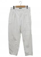 BEAMS PLUS(ビームスプラス)の古着「バックサテンベイカーパンツ」|ホワイト