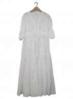 IENA LA BOUCLE(イエナ ラ ブークル)の古着「カットワークレースエンパイアワンピース」|ホワイト