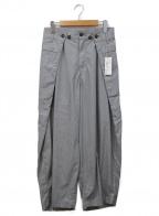 HARVESTY(ハーベスティー)の古着「トラベルタイプライタービッグタックパンツ」 ライトグレー
