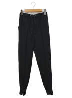 CADUNE(カデュネ)の古着「ポンチスリットパンツ」 ブラック