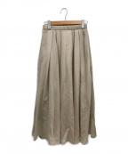 martinique()の古着「オーガンジーロングスカート」|ベージュ