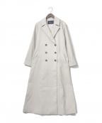 JUSGLITTY(ジャスグリッティー)の古着「バックボリュームダブル釦コート」|ベージュ