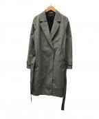 INDIVI()の古着「タスランチェックコート」|ブラック