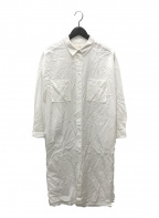 DEUXIEME CLASSE()の古着「ARCH THE ロングシャツ」 ホワイト