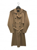 ()の古着「ミラノリブトレンチコート」|ブラウン