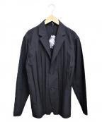 ISSEY MIYAKE MEN()の古着「プリーツテーラードジャケット」|ブラック