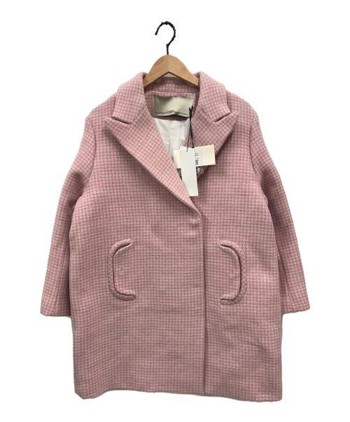 MademoiselleTARA(マドモアゼルタラ)MademoiselleTARA (マドモアゼルタラ) ダブルチェスターコート ピンク サイズ:38 未使用品の古着・服飾アイテム