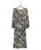 TOCCA(トッカ)の古着「Floral Chiffonドレス」|ブラック