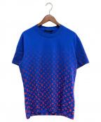 LOUIS VUITTON(ルイ ヴィトン)の古着「21SS LVSEモノグラムグラディエントTシャツ」|ブルー