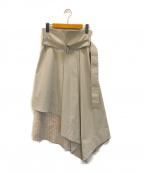 ADORE(アドーア)の古着「サーブルストライプスカート」|ベージュ