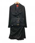 Vivienne Westwood RED LABEL(ヴィヴィアンウエストウッド レッドレーベル)の古着「セットアップ」|ブラック