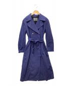 ()の古着「製品染めオーバーコート」 ネイビー