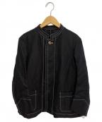 tricot COMME des GARCONS()の古着「コットンリネンスタンドカラージャケット」 ブラック