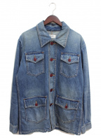 CELINE(セリーヌ)の古着「20SS サファリデニムジャケット」|インディゴ