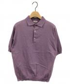 leno(リノ)の古着「ニットポロシャツ」|パープル