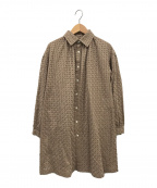tricot COMME des GARCONS(トリココムデギャルソン)の古着「カットワークレースシャツ」 ベージュ