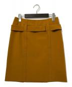 ()の古着「ベルテッドタイトスカート」 ブラウン