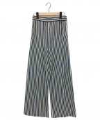 L'appartement(アパルトモン)の古着「STRIPE WIDE パンツ」|ホワイト×ネイビー