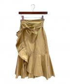 CELINE(セリーヌ)の古着「ラップスカート」|ベージュ