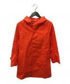 ORCIVAL(オーシバル)の古着「フードラグランコート」 レッド
