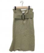 TOGA(トーガ)の古着「ニットスカート」|カーキ
