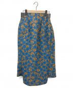 TOGA(トーガ)の古着「フラワージャガードスカート」|ブルー