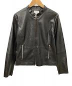 ()の古着「フェイクレザーライダースジャケット」 ブラック